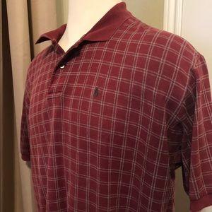Ralph Lauren Polo Shirt - Red Checkered XXL